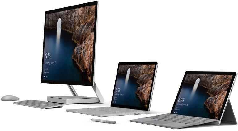 Microsoft Surface 2016 STudio All in one PC praesentation Seiten Ansicht