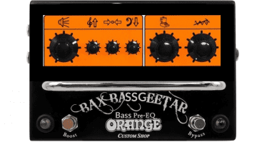 Orange Bax Bassgeetar Pedal Mockup Bass Effekt Gearnews