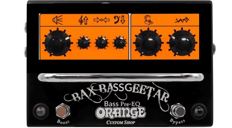 Orange Bax Bassgeetar Pedal Mockup Bass Effekt Gearnews