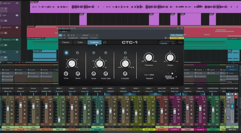 Presonus Studio One 3 Mix-FX CTC-1 Plug-in Custom