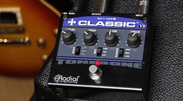 Radial Engineering Tonebone Classic V9 Pedal Effekt Distortion Front Amp Gitarre