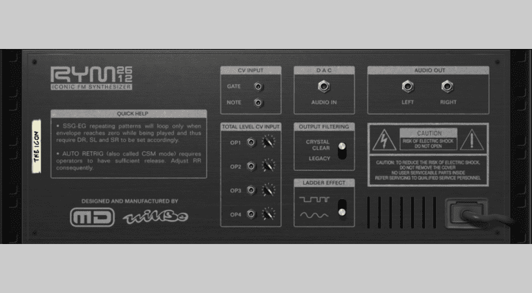 RYM2612 Iconic FM Synthesizer - legendäre Game-Sounds selbst gemacht