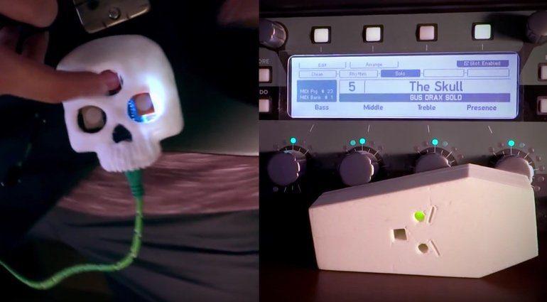 Skulltroller MIDI WIFI Sender Empfaenger Kickstarter Front