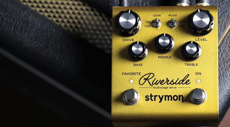 Strymon Riverside Overdrive Pedal E-Gitarre Front Top