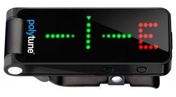 TC Electronic Black PolyTune Clip Tuner Stimmgeraet Front