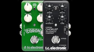 TC Electronic Corona Chorus Flanger Limited Edition Effekt Pedal Front Schwarz