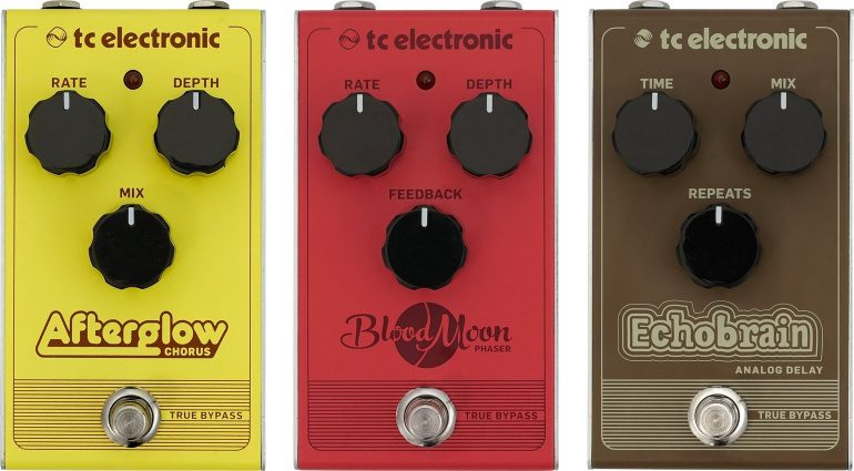TC Electronic Pedal Front Afterglow Chorus Blood Moon Phaser Echobrain Delay
