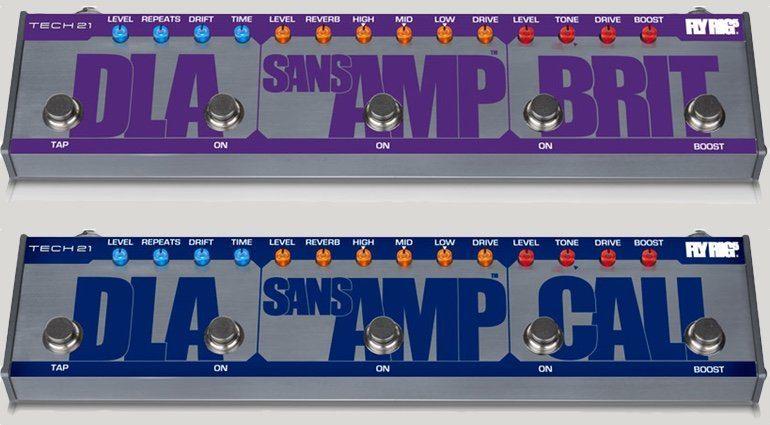 Tech 21 Sans Amp Fyl Rif Multi Effekt Pedal Brit Cali Front