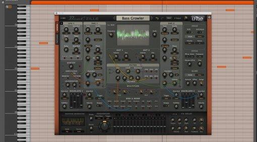 U-HE Beatzille Software Modular Synthesizer Bitwig DAW GUI Front