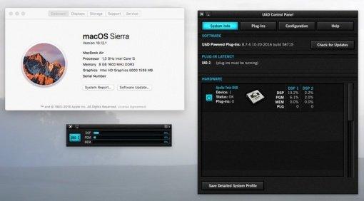 Universal Audio UAD 8.7.4s MacOS Sierra