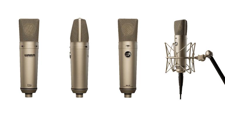 Warm Audio WA87 Neumann U87 Clone Front Side Back Ruueckseite Staender Mikrofon