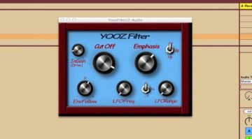 Yooz Filter Ladder Plug-in GUI