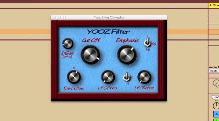 Yooz Filter Ladder Plug-in GUI