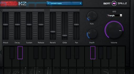 Beatskillz RetroKZ - der Synthesizer und Sampleplayer für achtziger Jahre Sounds