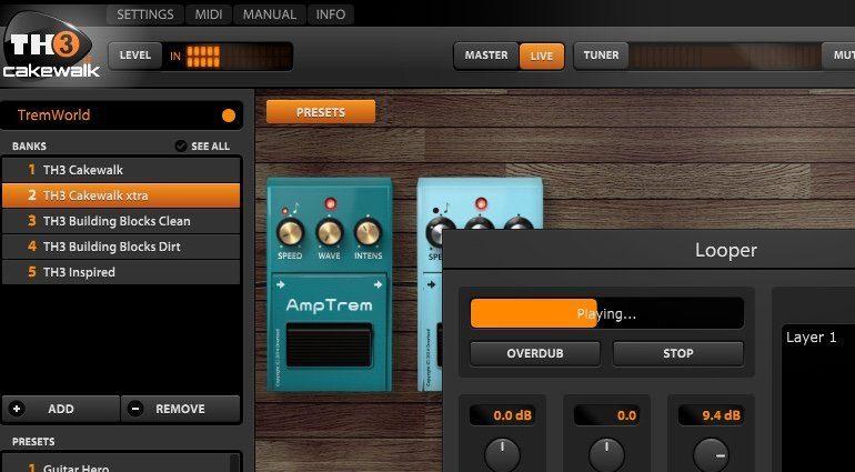 Cakewalk Sonar Home Studio Overloud TH3 Guitar Amp View