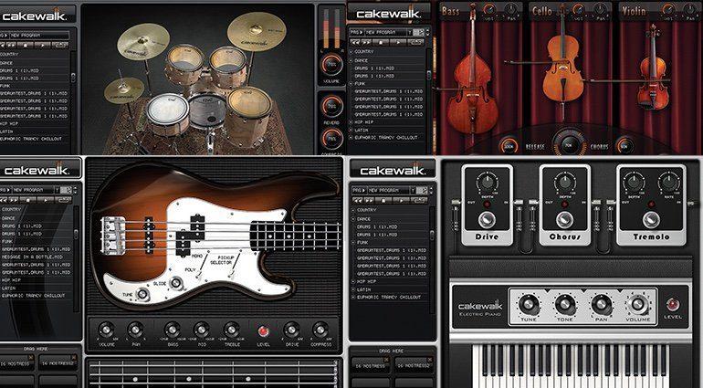 Cakewalk Sonar Home Studio Sample Player View