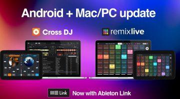 Cross DJ & Remixlive bieten platformübergreifend Ableton Link