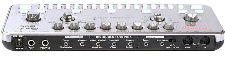 Cyclone Analogic TT-78 Beat Drum Machine Roland Clone Bot Anschluesse Rueckseite