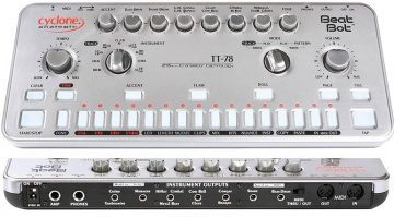 Cyclone Analogic TT-78 Beat Drum Machine Roland Clone Bot Front Anschluesse Rueckseite
