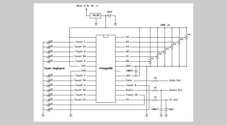 The Tiny TS - DIY Touch-Synthesizer in Kreditkartengröße