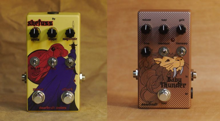 Dwarfcraft Devices SheFuzz Baby Thunder Fuzz Pedal Front