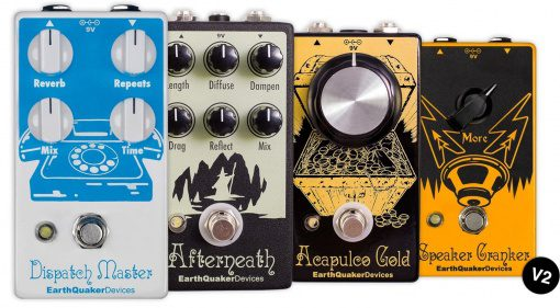 Earthquaker Devices V2 Pedal Effekt Familie Front
