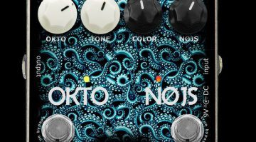 EMMA Electronic OKTO-NØJS ON-1 Oktaver Fuzz Pedal Front Close Up