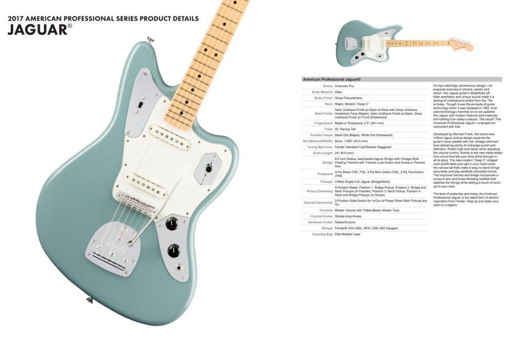 Fender American Professional Pro Series Jaguar Specs