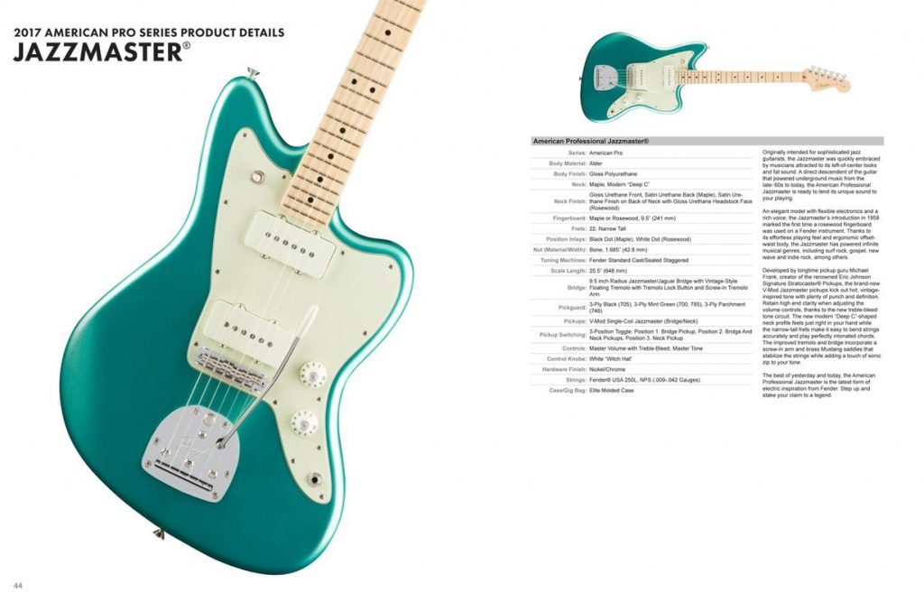 Fender American Professional Pro Series Jazzmaster Specs