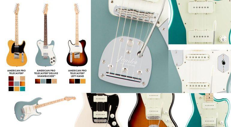 Fender American Professional Pro Series Stratocaster Telecaster Jaguar Jazzmaster Offset Front E-Gitarre