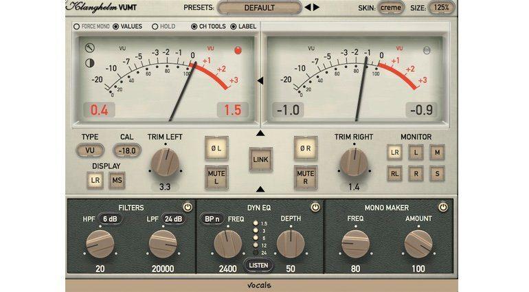 Klanghelm VUMT Deluxe Plug-in VU Meter GUI