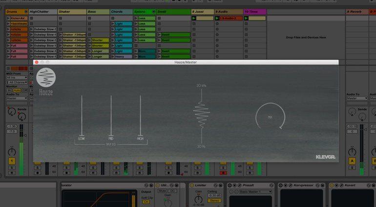 Klevgr Haaze STereo Width Plug-in Haas Effekt Split EQ GUI