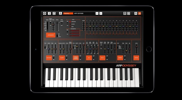 KORG ARP ODYSSEi Synthesizer App iOS iPad GUI Keyboard Detail