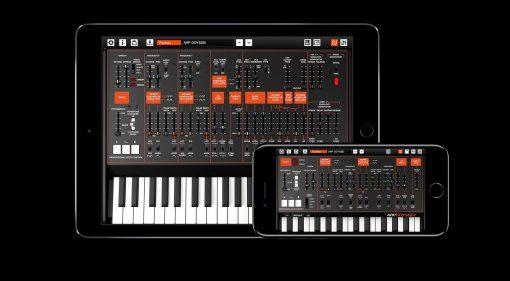 KORG ARP ODYSSEi Synthesizer App iOS iPhone iPad GUI Keyboard