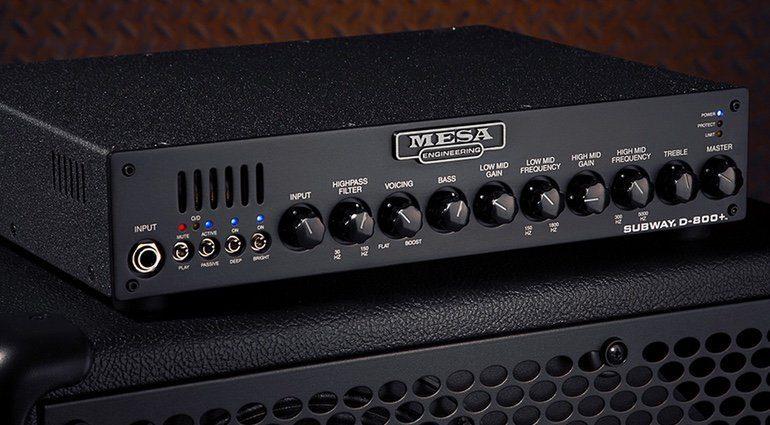 Mesa Boogie D-800 Plus Topteil Amp Bass Front