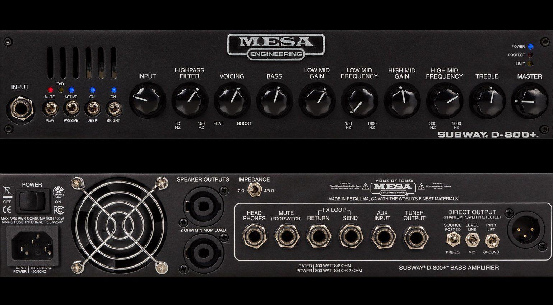Mesa Boogie D-800 Plus Topteil Amp Front Back Rueckseite