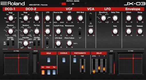 Momo Müller veröffentlicht Roland JX-03 VST Editor