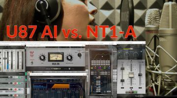 Neumann U87 AI vs Rode NT1-A Mikrofon Effekt Plug-ins GUI Video Shootout Vergleich