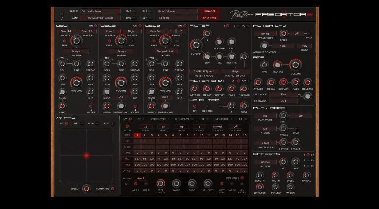 Rob Papen Predator 2 Software Synthesizer GUI Big