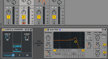 Skinnerbox MIDI Curve - einfach, aber effektives max4live Tool für Ableton Live