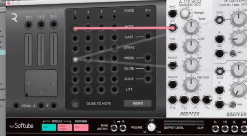 Softube Modular kann MPE mit dem ROLI Seaboard Rise Modul