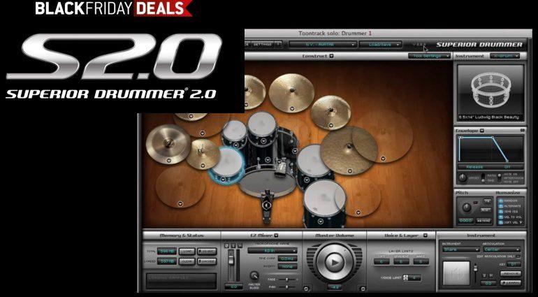 Toontrack Superior Drummer 2 GUI Black Friday Sale