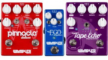 Wampler Mini Ego Booster Kompressor Pinnacle Deluxe V2 Overdrive Faux Tape Echo Gitarren Pedal Front