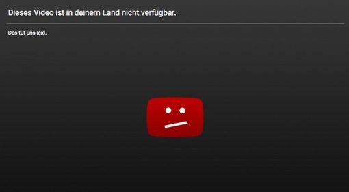 Youtube GEMA Einigung Sperrtafel