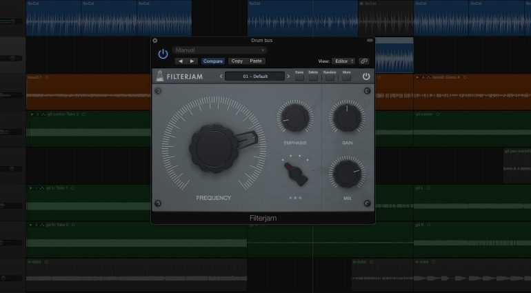 AudioThing FilterJam Filter Plug-in Effekt GUI Logic X