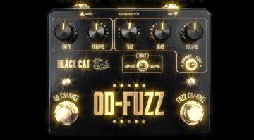 Black Cat OD-Fuzz Deluxe Pedal Effekt Front Bling Bling