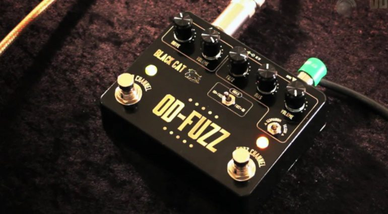 Black Cat OD-Fuzz Deluxe Pedal Effekt Video Screenshot Front View