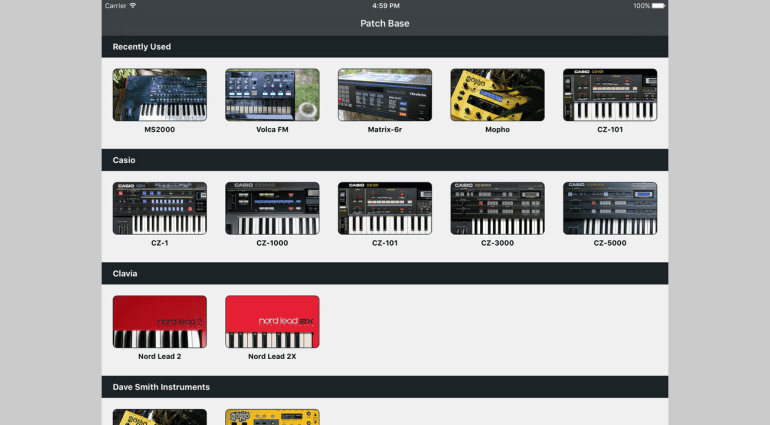 Coffeeshopped Patch Base - der iOS-Multi-Synth-Editor jetzt auch mit Korg microKorg
