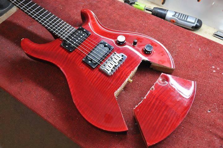 E-Gitarre nach DIY Kur Front Close Up 2