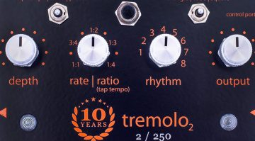 Empress Effects Tremolo 10th Anniversary Effekt Pedal Front Close Up
